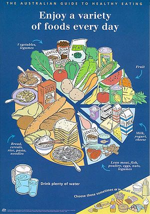 Healthy eating pie chart
